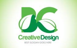 BC Green Leaf Letter Design Logo. Eco Bio Leaf Letter Icon Illus Royalty Free Stock Images