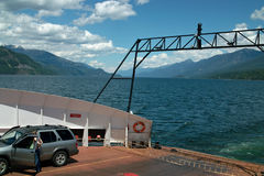 Kootenay Lake Ferry, B.C. Canada Stock Photography
