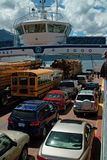 Kootenay Lake Ferry, B.C. Canada Stock Images