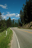 BC Highway 3A, B.C. Canada. On Highway 3A in the Kootenay River Valley, B.C. Canada royalty free stock photography