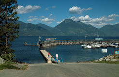 Kuskanook Harbour, B.C. Canada. Kuskanook Harbour. On Highway 3A in the Kootenay River Valley, B.C. Canada royalty free stock photo