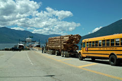 Kootenay Lake Ferry, B.C. Canada Stock Image