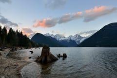BC Jones Lake Reservoir da energia hidráulica Imagens de Stock Royalty Free