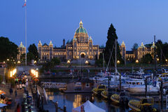 BC Legislature by Night Royalty Free Stock Images