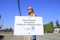 2014 BC Lehrer-Streik Lizenzfreies Stockbild