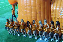 BC Lions cheerleaders Royalty Free Stock Photo
