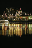 BC Parliament Christmas Stock Photo