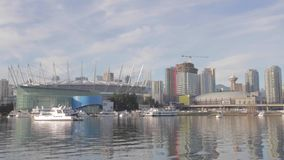 BC place and downtown Vancouver. VANCOUVER,CANADA - CIRCA December 2014 : BC place and downtown Vancouver stock video