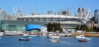 BC Place i. VANCOUVER BC CANADA JUNE 15 2015: BC Place is a stadium located at the north side of False Creek, in Vancouver, British Columbia, Canada. It is owned royalty free stock photo