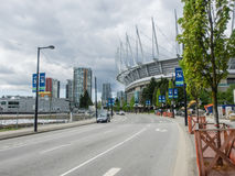 BC Place. Is a multi-purpose stadium located at the north side of False Creek, in Vancouver, British Columbia, Canada stock images