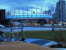 BC Place stadium in Vancouver. A view outside the BC Place stadium at the north side of False Creek, in Vancouver, British Columbia, Canada stock photography