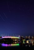 BC Place and startrails Royalty Free Stock Images