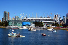 BC Place. VANCOUVER BC CANADA JUNE 15 2015: BC Place is a stadium located at the north side of False Creek, in Vancouver, British Columbia, Canada. It is owned royalty free stock photography