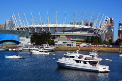 BC Place. VANCOUVER BC CANADA JUNE 15 2015: BC Place is a stadium located at the north side of False Creek, in Vancouver, British Columbia, Canada. It is owned stock images
