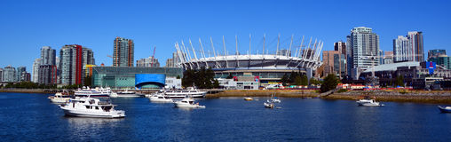 BC Place. VANCOUVER BC CANADA JUNE 15 2015: BC Place is a stadium located at the north side of False Creek, in Vancouver, British Columbia, Canada. It is owned royalty free stock photos