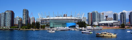 BC Place. VANCOUVER BC CANADA JUNE 15 2015: BC Place is a stadium located at the north side of False Creek, in Vancouver, British Columbia, Canada. It is owned stock photos