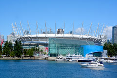 BC Place. VANCOUVER BC CANADA JUNE 15 2015: BC Place is a stadium located at the north side of False Creek, in Vancouver, British Columbia, Canada. It is owned stock image