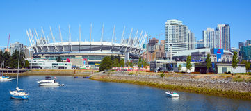 BC Place. VANCOUVER BC CANADA JUNE 15 2015: BC Place is a stadium located at the north side of False Creek, in Vancouver, British Columbia, Canada. It is owned stock photography