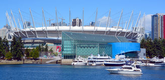 BC Place. VANCOUVER BC CANADA JUNE 15 2015: BC Place is a stadium located at the north side of False Creek, in Vancouver, British Columbia, Canada. It is owned royalty free stock images