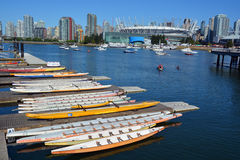 BC Place. VANCOUVER BC CANADA JUNE 15 2015: BC Place is a stadium located at the north side of False Creek, in Vancouver, British Columbia, Canada. It is owned stock photo
