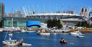 BC Place. VANCOUVER BC CANADA JUNE 15 2015: BC Place is a stadium located at the north side of False Creek, in Vancouver, British Columbia, Canada. It is owned royalty free stock photo