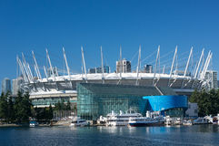 BC Place. VANCOUVER, CANADA - SEPTEMBER 26, 2013: BC Place stadium on September 26, 2013. BC Place is a year-round, open-air facility - the largest multipurpose stock images