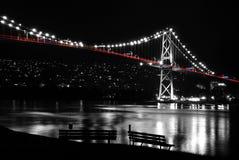 bc plats för natt för Kanada portlions Royaltyfri Foto