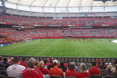BC Stadium before the soccer game Stock Images