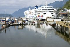 BC veerboot bij de HoefijzerTerminal van de Baai Royalty-vrije Stock Afbeelding