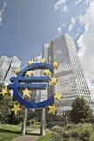 BCE del euro imagenes de archivo
