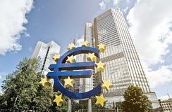 BCE del euro Foto de archivo libre de regalías