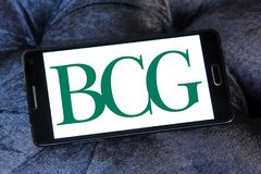 BCG, Boston Consulting Group-embleem stock foto