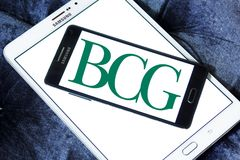 BCG, logotipo de Boston Consulting Group fotos de archivo libres de regalías
