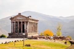 第3个结构上亚美尼亚世纪组合复杂文化要素BC设立了garni希腊文化的国民结构寺庙 库存图片