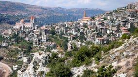 Bcharre。黎巴嫩 库存照片