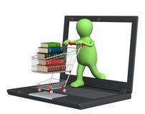 Bücher online Lizenzfreies Stockfoto