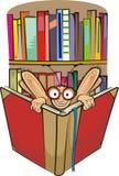 Bücherwurm und Bibliothek Lizenzfreies Stockfoto