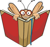 Bücherwurm und Buch Lizenzfreies Stockfoto