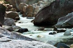 Bäck i stenskog Royaltyfri Fotografi