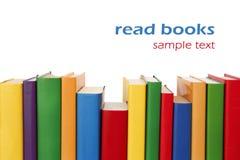 böcker border färgrikt Arkivfoton