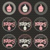 Bäckereiaufkleber Lizenzfreie Stockfotos