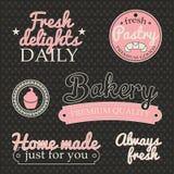 Bäckereiaufkleber Stockfoto