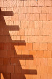 bckground砖设计红色墙壁 库存图片