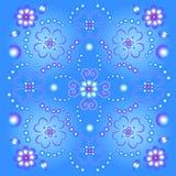 bckground蓝色花卉 库存照片