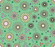 bckground floral άνευ ραφής Στοκ Εικόνα