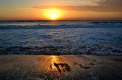 Bcn de coucher du soleil images stock