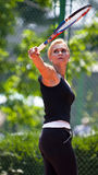 BCR夫人开张主要网球竞技场空缺数目 库存照片