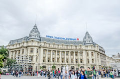 The BCR (Banca Comerciala Romana) Palace Royalty Free Stock Photography