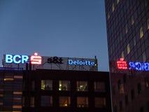 BCR e logotipos de Deloitte Fotos de Stock