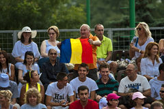 BCR Ladies Open Final Romanian Fans Royalty Free Stock Photos